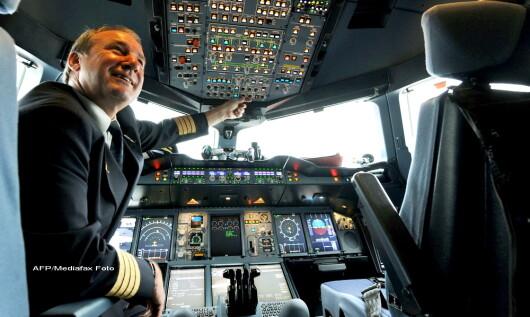Carlinga unui Airbus, cockpit