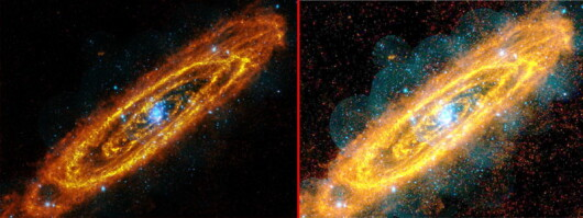 Galaxia Andromeda in Photoshop