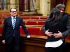 Marcela Topor, sotia sefului executivului catalan, sotul ei arles Puigdemont si Artur Mas