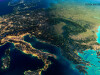 harta Europa vazuta din spatiu