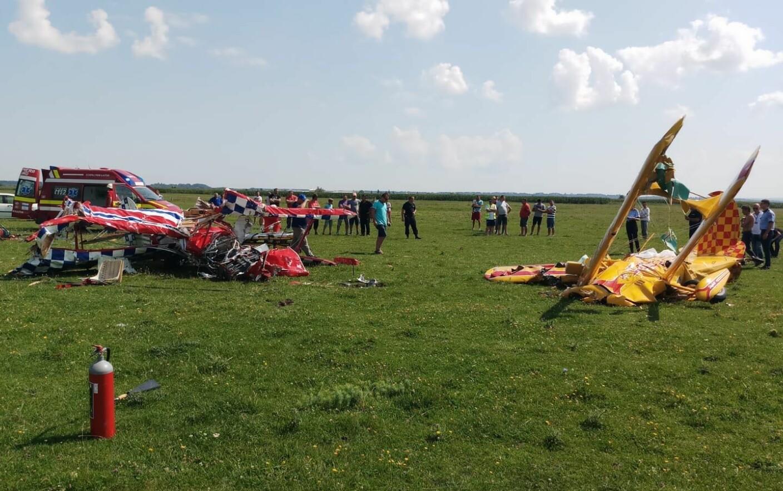 CIAS: Două avioane de acrobație de tip Skybolt s-au ciocnit în aer pe Aerodromul Frătăuți (jud. Suceava)