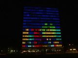 Tetris, jucat pe un ecran de 55 de metri inaltime. Studentii au platit 30.000 pentru distractia lor