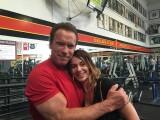 Nadia Comaneci si Arnold Schwarzenegger