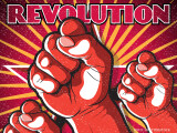 afis propagandistic revolutie