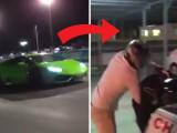 Ce a facut un barbat dupa ce a pierdut un pariu de 8.000 de dolari la o cursa Lamborghini vs Nissan Forza