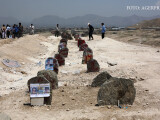 Mormintele victimelor atentatului sinucigas din Kabul, care a facut cel putin 80 de morti