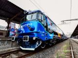 Locomotiva Pasarea Maiastra este prezentata publicului si presei in Gara de Nord din Bucuresti