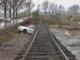 Imagine surprinsa azi, in Romania. NU este iluzie optica... Ce s-a intamplat cu aceasta masina