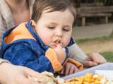 copil care mananca cartofi prajiti