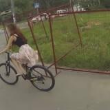 striptease, bicicleta