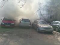 incendiu in parcarea spitalului din Focsani