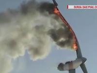 incendiu la o turbina eoliana