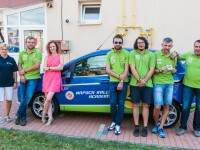 WALKING MONTH: Baschebalistii U-BT si pilotii Napoca Rally Academy merg pe jos pentru a ajuta copiii care nu pot sa umble