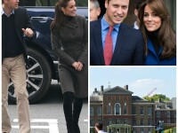 Palatul Kensington, William si Kate - colaj Getty