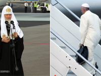 patriarhul Kiril si Papa Francisc