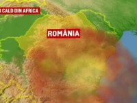 Masa de aer cald care vine din Africa in Romania