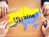 Ucraina decupata cu foarfeca FOTO: SHUTTERSTOCK