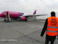 aeronava Wizz Air pe aeroportul din Cluj
