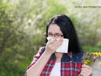 femeie cu alergie