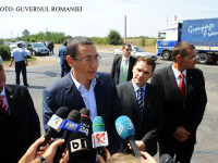 Victor Ponta, Gabriel Oprea si Dan Sova FOTO: GUVERN