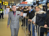 Gigi Becali aeroport