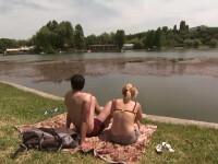 plaja in parc in Bucuresti
