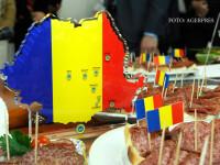 Produse traditionale romanesti prezentate cu ocazia unui eveniment dedicat produselor care au obtinut protectie la nivelul Uniunii Europene, organizat de Ministerul Agriculturii si Dezvoltarii Rurale