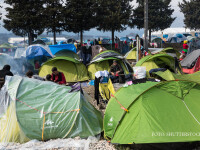 tabara de refugiati din Idomeni, Grecia