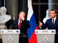 Vladimir Putin si Emmanuel Macron