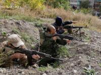 rebeli pro-rusi in orasul Frunze din regiunea Lugansk