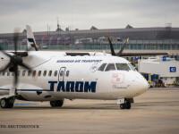 aeronava TAROM pe aeroport