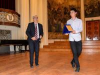 Cel mai bun dintre cei buni: un elev clujean a primit ieri Premiul de excelenta in educatie 2016