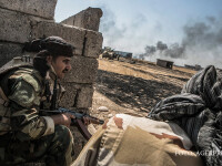 forte kurde din Peshmerga lupta in regiunea Mosul