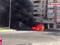 masina foc Bacau