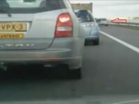 Karma a lovit imediat! Ce s-a intamplat imediat dupa ce un sofer a vrut sa depaseasca o coloana de masini