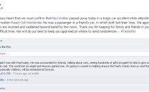 Paul Walker Facebook