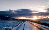 peisaj de iarna in Romania