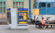 tren in gara Nyugati din Budapesta