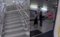 Provocarea nebuna a acestui barbat: a vrut sa vada daca este mai rapid decat metroul! A fost aplaudat de toata lumea la final