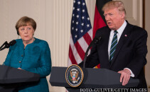 Donald Trump si Angela Merkel