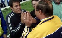 Traian Basescu si Serban Huidu - 11 octombrie 2002