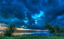 nori de ploaie pe Dunare, toamna