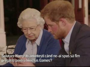 Regina Elisabeta si Printul Harry