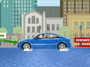 masina strazi inundate
