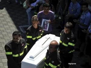 Inmormantare victime cutremur Italia