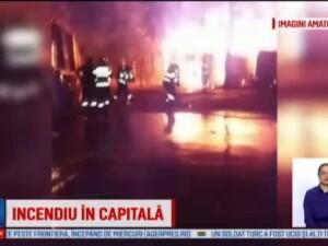 Incendiu de proportii in cartierul Tei din Capitala. Nimeni nu stie de la ce a izbucnit focul