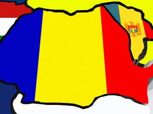 harta Romania si Republica MOldova