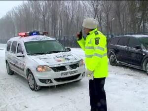 Iarna, zapada, politie