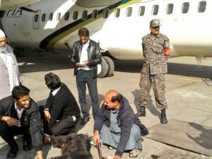 tap sacrificat pe pista aeroportului din Karachi