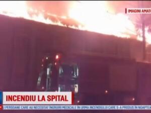 Incendiu la un Spital de Psihiatrie din Timis. Pacientii au fost evacuati, pompierii s-au luptat 5 ore cu flacarile